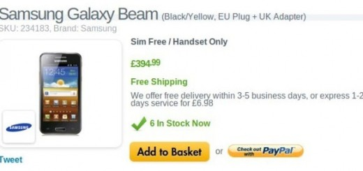 Samsung Galaxy Beam on Sale in UK; pricing £395