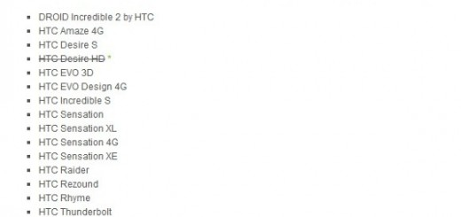 HTC Desire HD out from the List of Devices to get ICS Update
