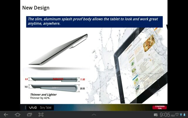 New Sony Xperia Tablet Specs, Price and Accessories revealed