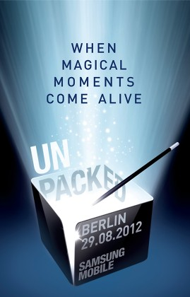 Samsung Unpacked Event on August 29 confirmed; Galaxy Note 2 Launch?