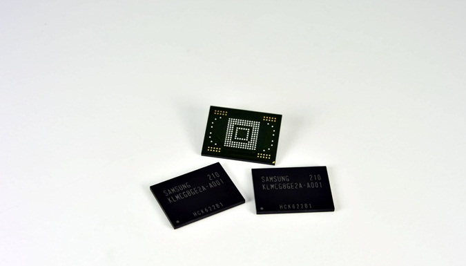 Samsung eMMC Pro Class 1500 NAND Storage Production begins