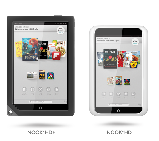 Barnes & Noble Nook HD and HD+ Tablets official; Specs and Price