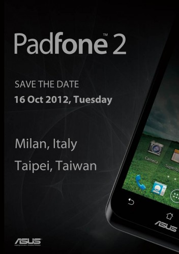 ASUS to launch Padfone 2 on October 16