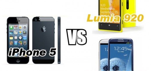 Apple iPhone 5 vs Nokia Lumia 920 vs Samsung Galaxy S III