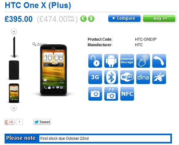 HTC One X+ goes on Pre-order in UK; pricing £474