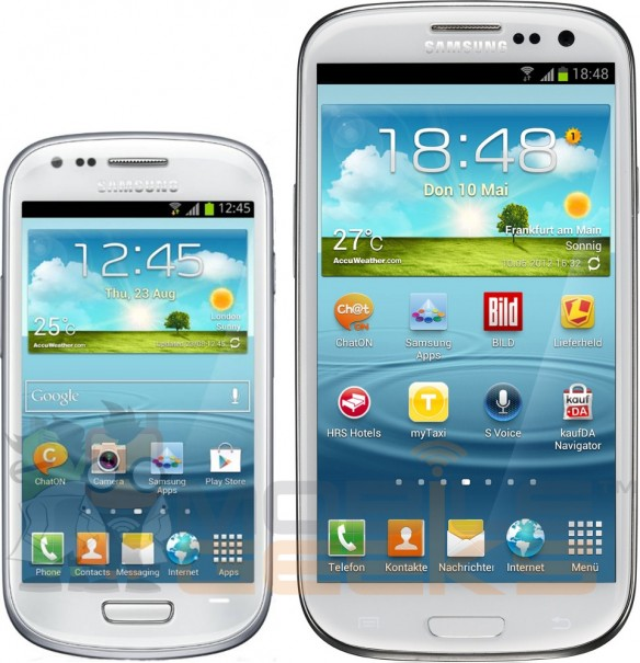 Samsung Galaxy S III mini image, specs, price leak