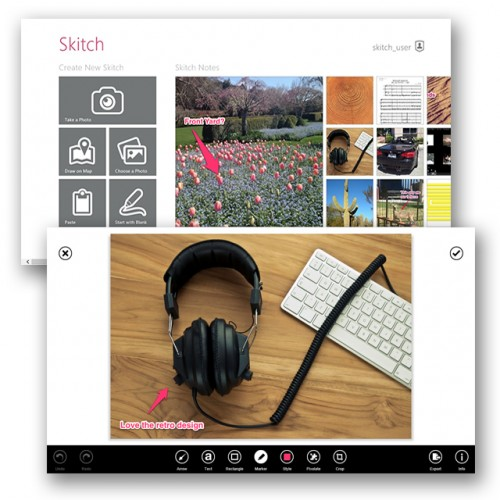 Skitch Windows Desktop and Windows 8 apps released
