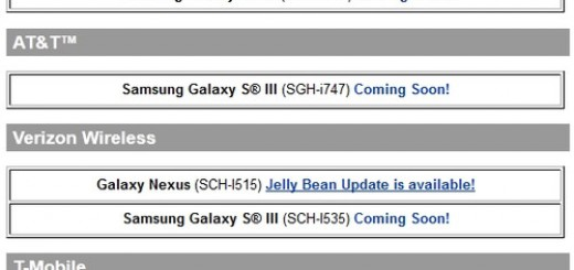 List of Samsung Smartphones to get Android 4.1 Jelly Bean Update
