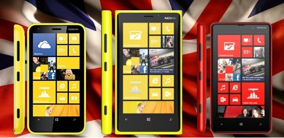 Nokia announces availability of Lumia 920, 820, 620 in UK
