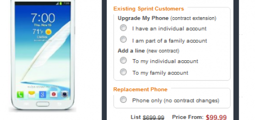 Sprint Galaxy Note II gets price cut; Now $99 on Amazon
