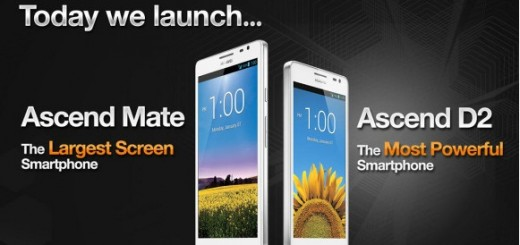 "5.1"" Huawei Ascend D2 and 6.1"" Ascend Mate announced"