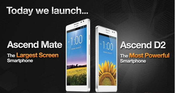 Huawei Ascend Mate and D2 5.1 Huawei Ascend D2 and 6.1 Ascend Mate announced