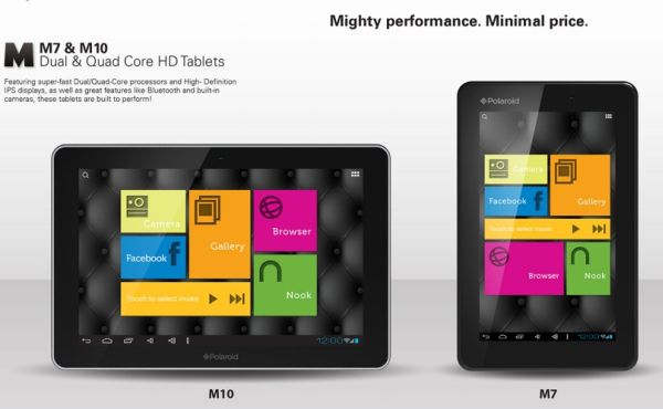 Polaroid debuts M10, M7 Android Tablets; Specs and Price
