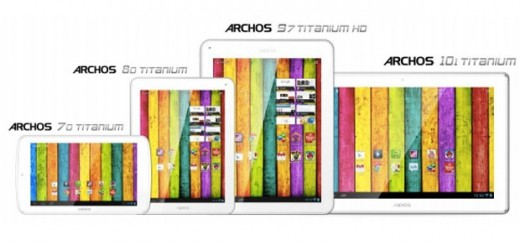 Archos introduces Archos 70, 80, 101 and 97 Titanium Tablets; Specs and Prices