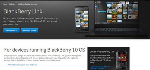 BlackBerry Link for PC and Mac; sync your BB10 and System