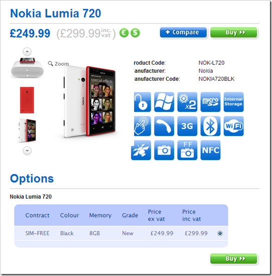 Nokia Lumia 720 and 520 to be released on April 1