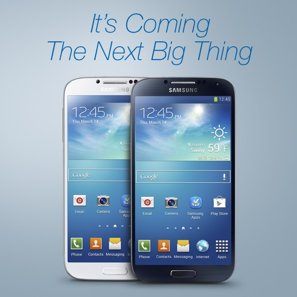 Samsung Galaxy S IV officially announced; releasing in April