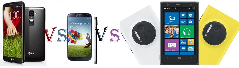 LG G2 Vs Samsung Galaxy S4 Vs Nokia Lumia 1020