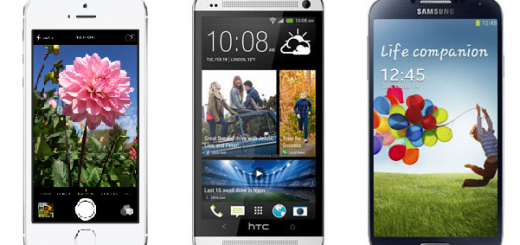 Apple iPhone 5S Vs HTC One Vs Samsung Galaxy S4