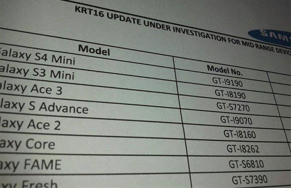 Low-end Samsung Smartphones to get Android KitKat Update