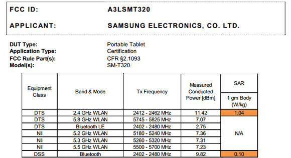Samsung Galaxy Tab Pro 8.4 spotted at the FCC