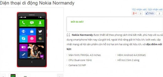 Nokia Normandy aka A110 / Nokia X appears on Vietnamese online Store