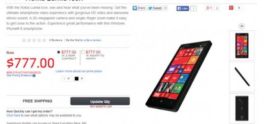 Nokia Lumia Icon aka Lumia 929 leak with price