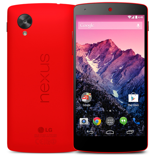 Bright Red LG Nexus 5 goes official; available on Google Play