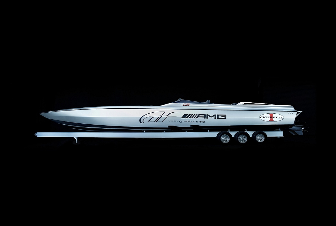 Mercedes amg and cigarette 50 vision gran turismo concepts for Mercedes benz yacht cost