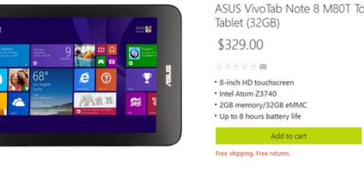 Asus VivoTab Note 8 goes on Sale; pricing $329 on Microsoft Store