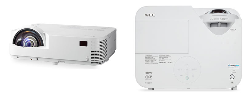 Nec m332xs m352ws short throw projectors unveiled specs for Apple projector price