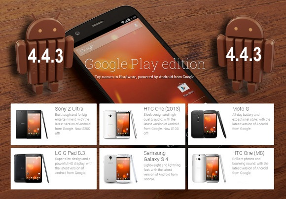 Android 4.4.3KIKat Update for Google Play Edition Phones released