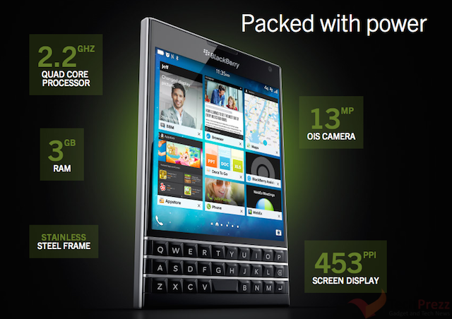 BlackBerry Passport full Specifications | Tech Prezz