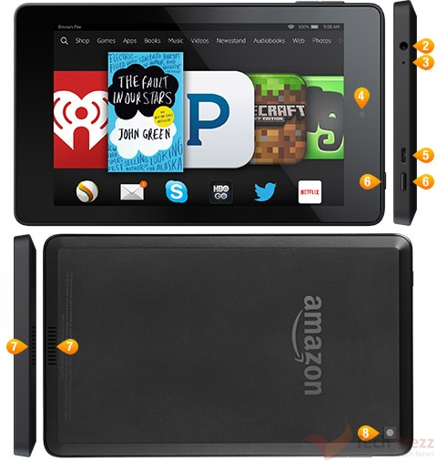 Amazon Fire HD 6 Tablet Specs