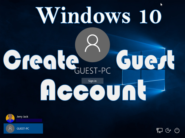 Create Guest PC Account in Windows 10