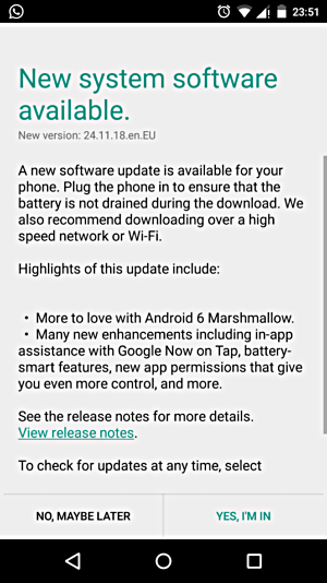 2nd Gen Motorola Moto X gets Android 6.0 Marshmallow Update in India and Australia