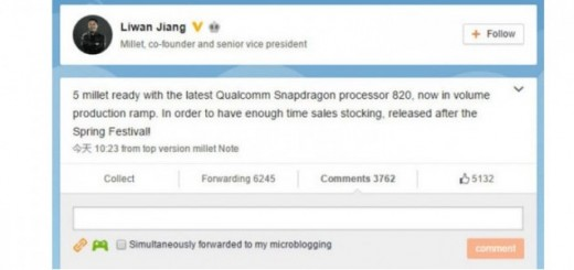 Xiaomi Mi5 confirmed to pack Snapdragon 820 Chipset