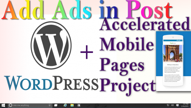 WordPress + AMP: How to insert Adsense Ad in the middle of