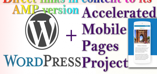 WordPress AMP: Direct All the links on Accelerated Mobile Pages to its AMP version