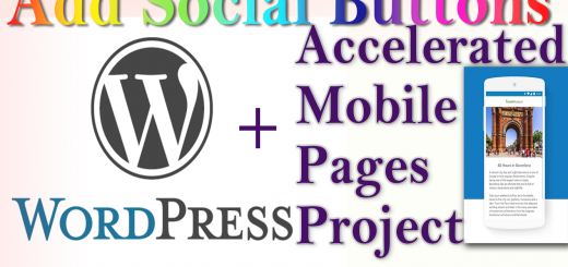 WordPress + AMP: how to add Social Sharing Buttons to Accelerated Mobile Pages without plugin