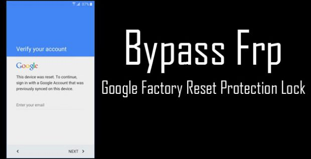 Bypass frp lock on Android smartphones