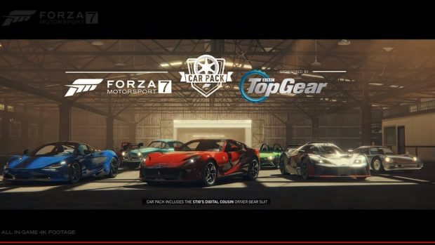 forza motorsport 7 top gear car pack july 2018