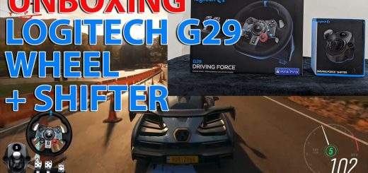 Logitech G29 Driving Force Racing Wheel & Shifter Unboxing and Review