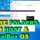 how to share folders with guest and host os on virtualbox windows 10 pc